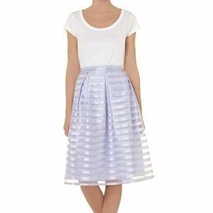 Dorothy Perkins Lilac Stripe Midi Skirt